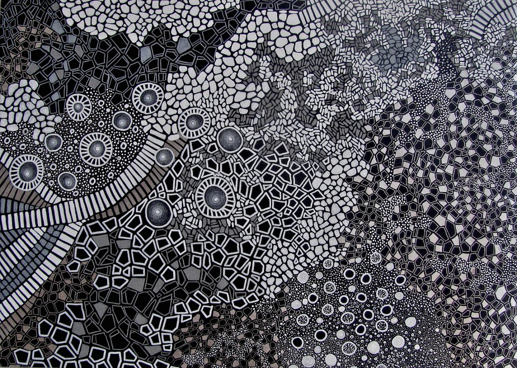 imaginary map in white on black
